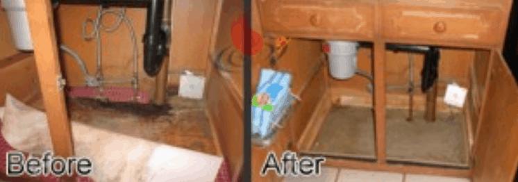 water damage in lakewood co kitchen